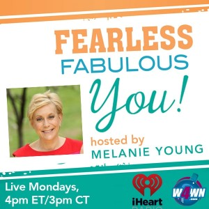 Host Melanie Young is a certified holistic health coach, award winning author and motivational muse. Follow her blog at www.melanieyoung.com Connect with her on Twitter@mightmelanie and Facebook/FearlessFabulousMelanie